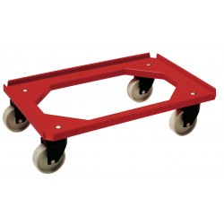 Dollie mover gitter | rubberen wiel | rood