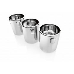 Gelato RVS tubs