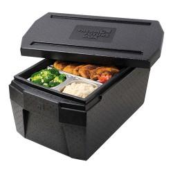 Deksel voor cateringbox 1/1 GN DeLuxe - zwart