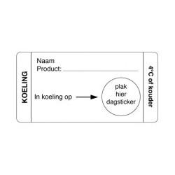 Afwasbare Sticker Koeling 250/rol