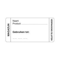Afwasbare Sticker Magazijn 250/rol