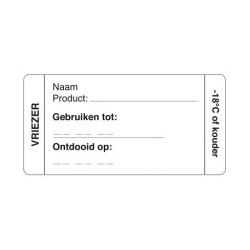 Afwasbare Sticker Vriezer 250/rol