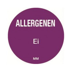 Allergie sticker 'Ei' rond 25 mm, 1000/rol