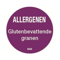 Allergie sticker 'Granen' rond 25 mm, 1000/rol