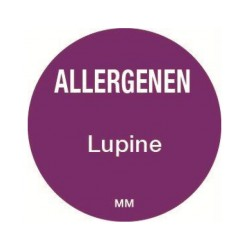 Allergie sticker 'Lupine' rond 25 mm, 1000/rol