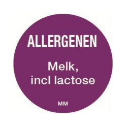 Allergie sticker 'Melk' rond 25 mm, 1000/rol