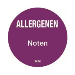 Allergie sticker 'Noten' rond 25 mm, 1000/rol