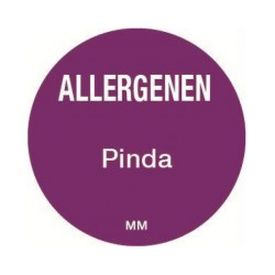 Allergie sticker 'Pinda' rond 25 mm, 1000/rol