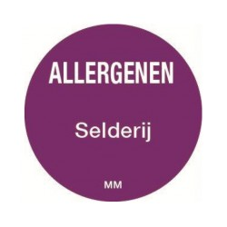 Allergie sticker 'Selderij' rond 25 mm, 1000/rol