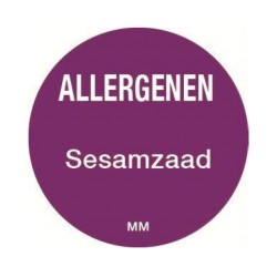 Allergie sticker 'Sesamzaad' rond 25 mm, 1000/rol