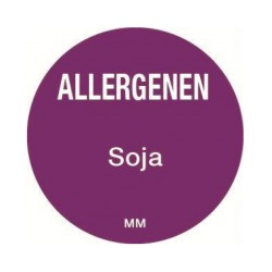 Allergie sticker 'Soja' rond 25 mm, 1000/rol