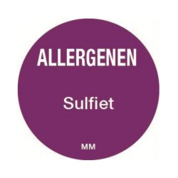 Allergie sticker 'Sulfiet' rond 25 mm, 1000/rol