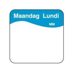 Makk. Verwijderbare Sticker 'Maandag', 1000/rol