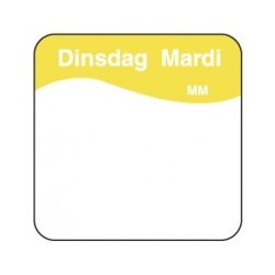 Makk. Verwijderbare Sticker 'Dinsdag', 1000/rol