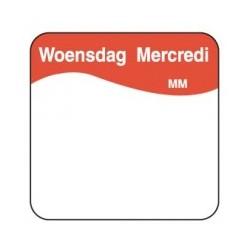 Makk. Verwijderbare Sticker 'Woensdag', 1000/rol