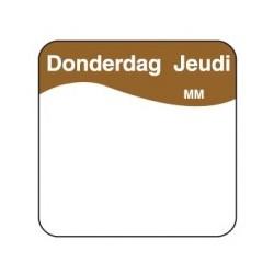 Makk. Verwijderbare Sticker 'Donderdag', 1000/rol