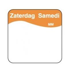 Makk. Verwijderbare Sticker 'Zaterdag', 1000/rol