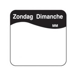 Makk. Verwijderbare Sticker 'Zondag', 1000/rol