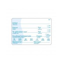 Vol. Oplosbare Sticker met schrijfvlak, 250/rol