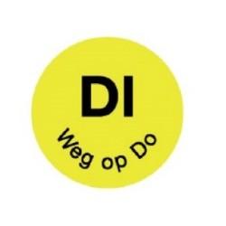 Perm. Sticker 'Di weg op Do' 1000/rol