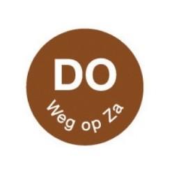 Perm. Sticker 'Do weg op Za' 1000/rol