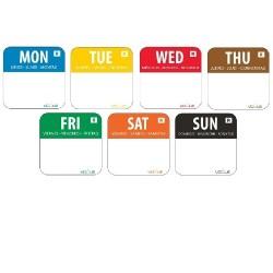 Weekdagen Sticker Set