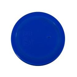 Rond deksel blauw