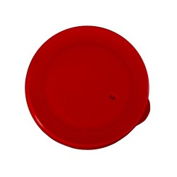 Rond deksel rood