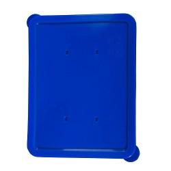 Rechthoekig deksel blauw