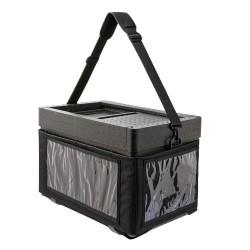 Beach Box met textielen tas zwart