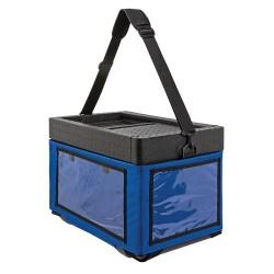 Beach Box met textielen tas blauw