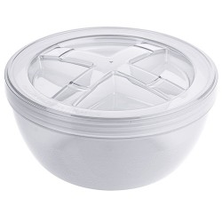 Kunststof Herbruikbaar Soepbakje PP wit 1120 ml (12 st)
